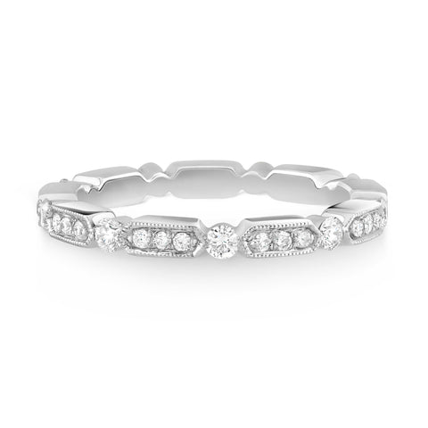 Vintage Inspired pave set band