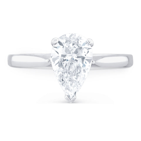 Mustique Pear - I Finger Size, platinum Metal, 0.71 Ct Diamond (85637706)