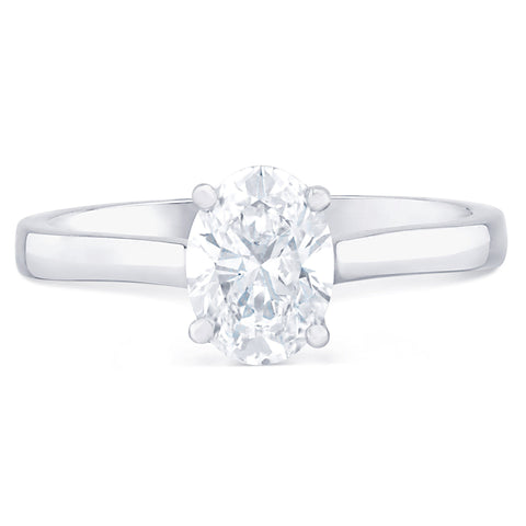 Monte Carlo Oval - G Finger Size, 18ct-white-gold Metal, 0.36 Ct Diamond (110167696)