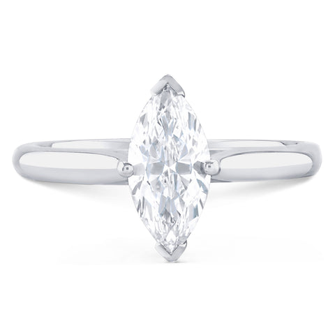 Monte Carlo Marquise - P Finger Size, 18ct-white-gold Metal, 0.3 Ct Diamond (93487917)