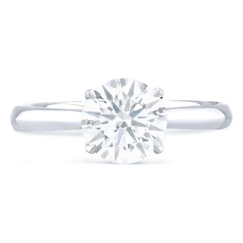 Hamptons - K Finger Size, platinum Metal, 0.5 Ct Diamond (84330579)