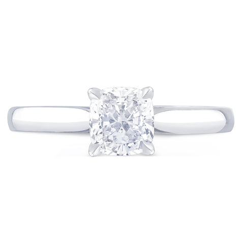 St Tropez Cushion - K Finger Size, platinum Metal, 0.8 Ct Diamond (86221646)