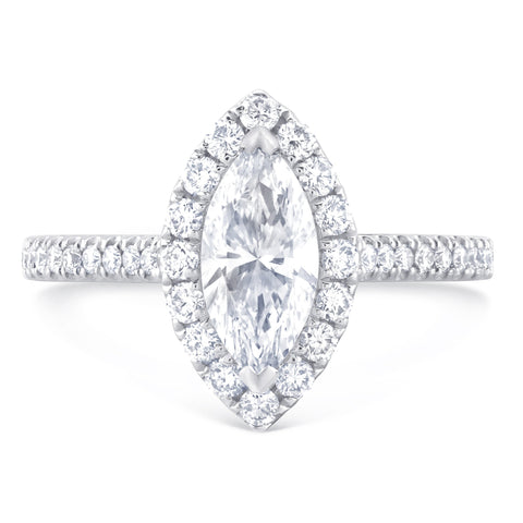 Malibu Marquise - L Finger Size, 18ct-white-gold Metal, 0.5 Ct Diamond (85741473)