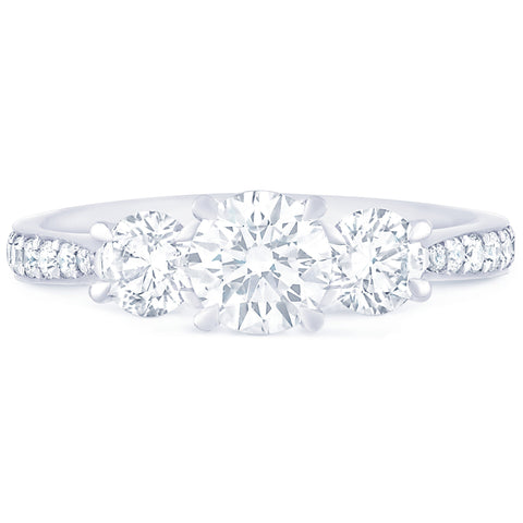 Monte Carlo Round Pave - G Finger Size, 18ct-white-gold Metal, 1.02 Ct Diamond (108617428)