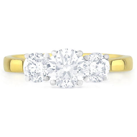 Santorini Yellow Gold - J Finger Size, 18ct-yellow-gold Metal, 0.5 Ct Diamond (107251648)