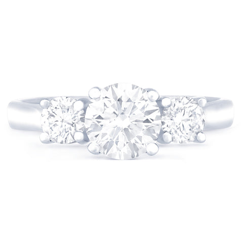SARDINIA TRIPLE CROWN DIAMOND ENGAGEMENT RING