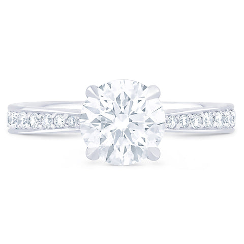 Hamptons Pave - I Finger Size, platinum Metal, 0.25 Ct Diamond (100166476)