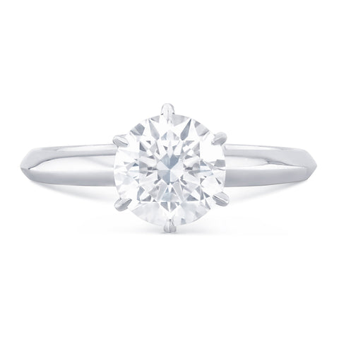 Capri Solitaire Diamond Ring - L Finger Size, 18ct-white-gold Metal, 0.5 Ct Diamond (112822485)