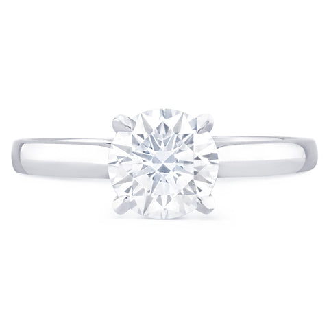 St Tropez - J Finger Size, platinum Metal, 0.9 Ct Diamond (95927525)