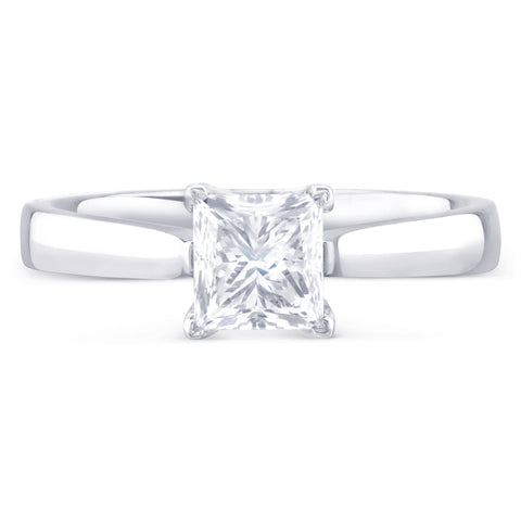 Monte Carlo Princess - K Finger Size, 18ct-white-gold Metal, 0.53 Ct Diamond (85637710)