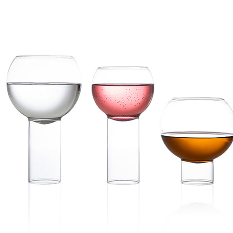 All sizes of the Tulip Collection of glassware.