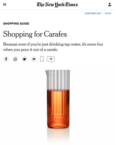 fferrone design in The New York Times - shopping guide Carafe