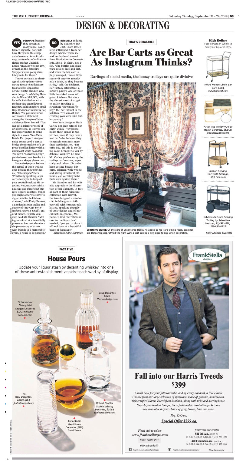wall street Journal boyd decanter
