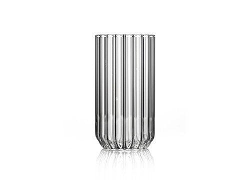 Single large fluted glass by designer, Felicia Ferrone.