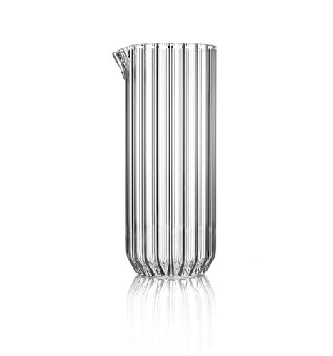 Contemporary fluted carafe by designer Felicia Ferrone.