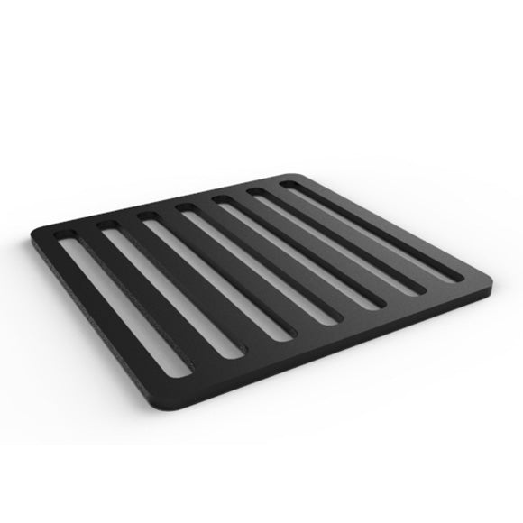 Black trivet inspired by the streets of Italy.