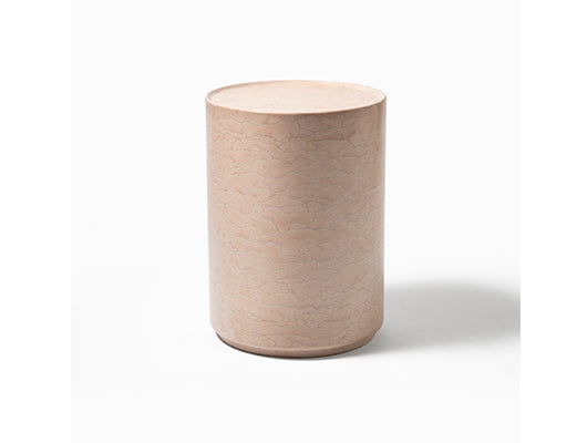 Amara Side Table in Pink Marble