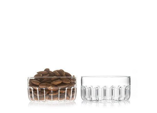 Designer glass bowl for candies or nuts by Felicia Ferrone.