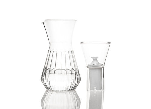Talise Fluted Decanter with Mixed Glass Set