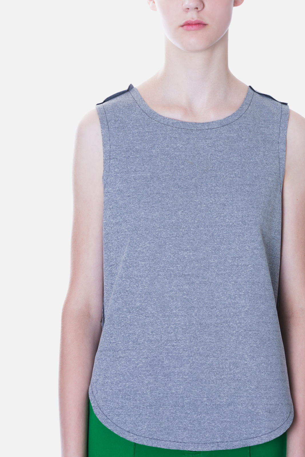 Clean-Edge Sleeveless Top
