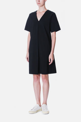 FRONT PLEAT A LINE DRESS