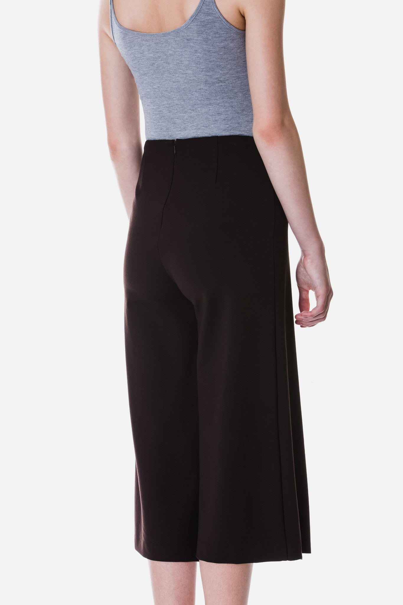 Knit Culottes with Fold Detail