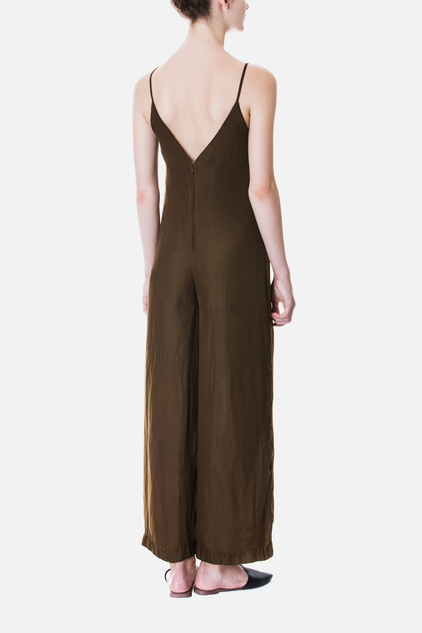 Satin Wide Leg Jumpsuit