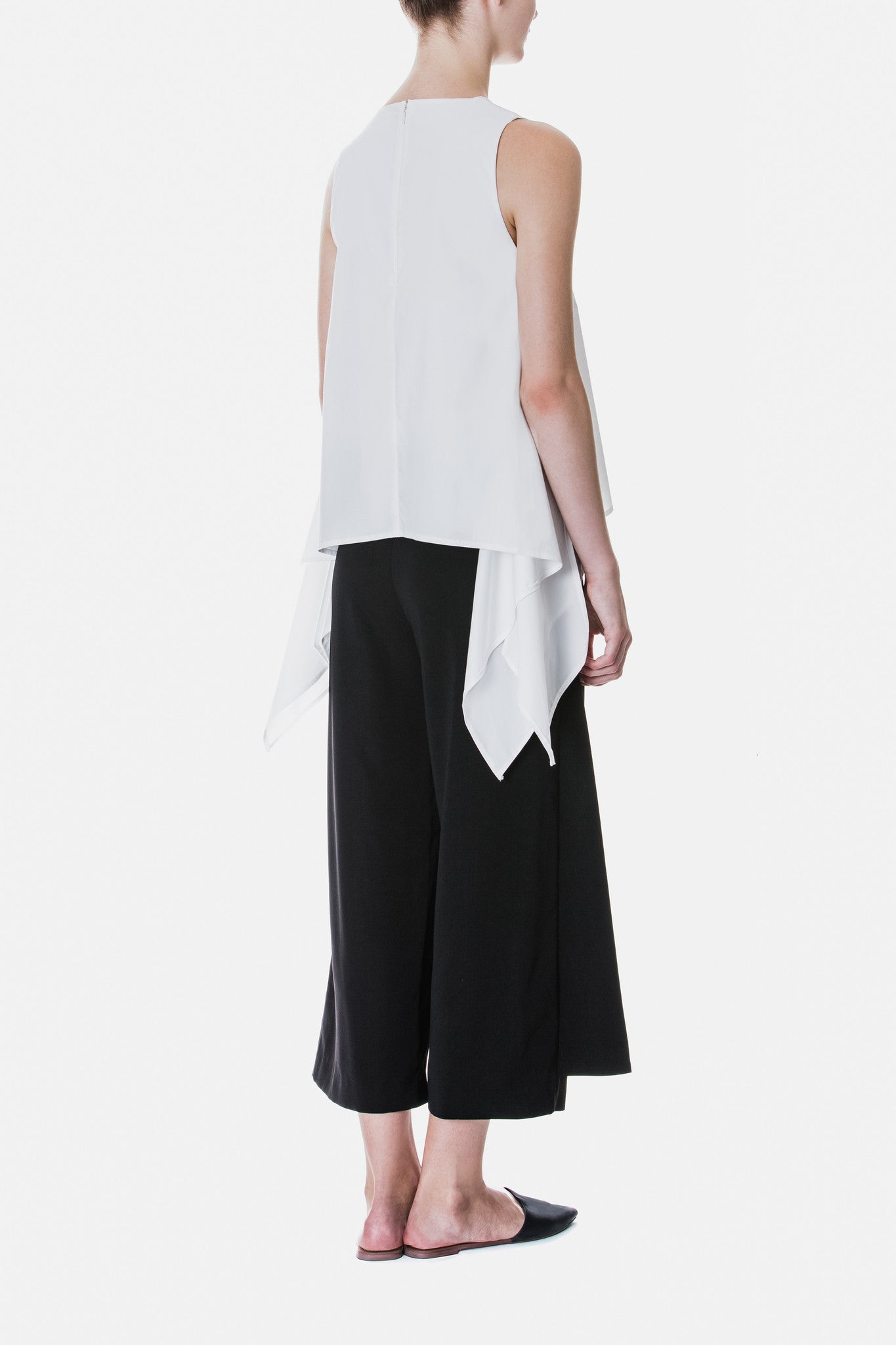Layered Stepped Hem Culottes