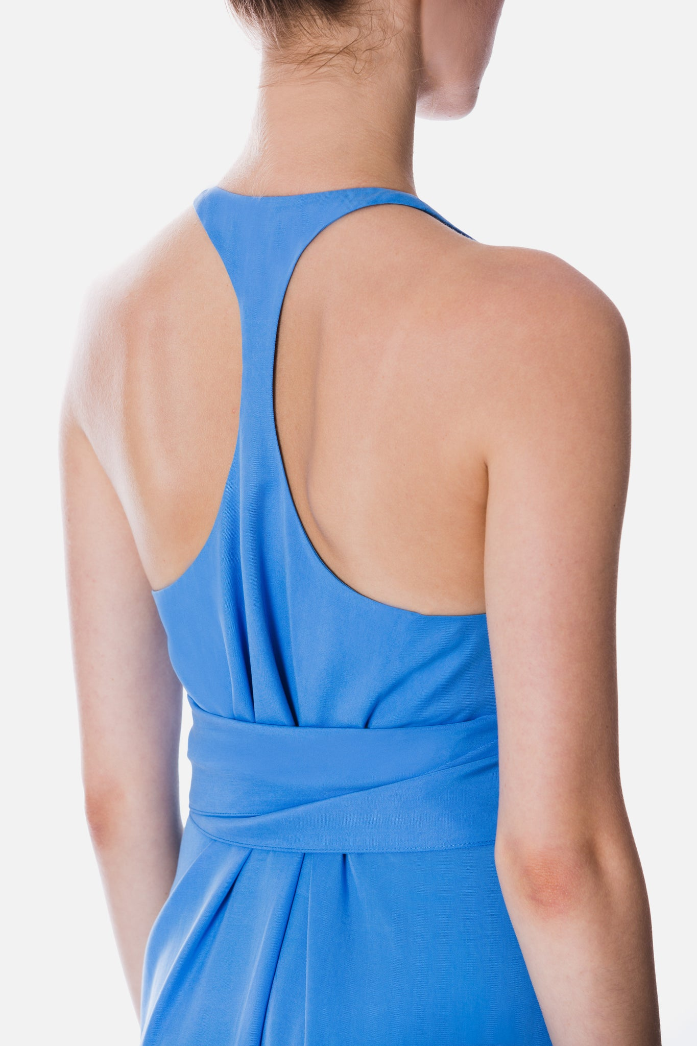 TENCEL DRESS WITH BACK DETAIL