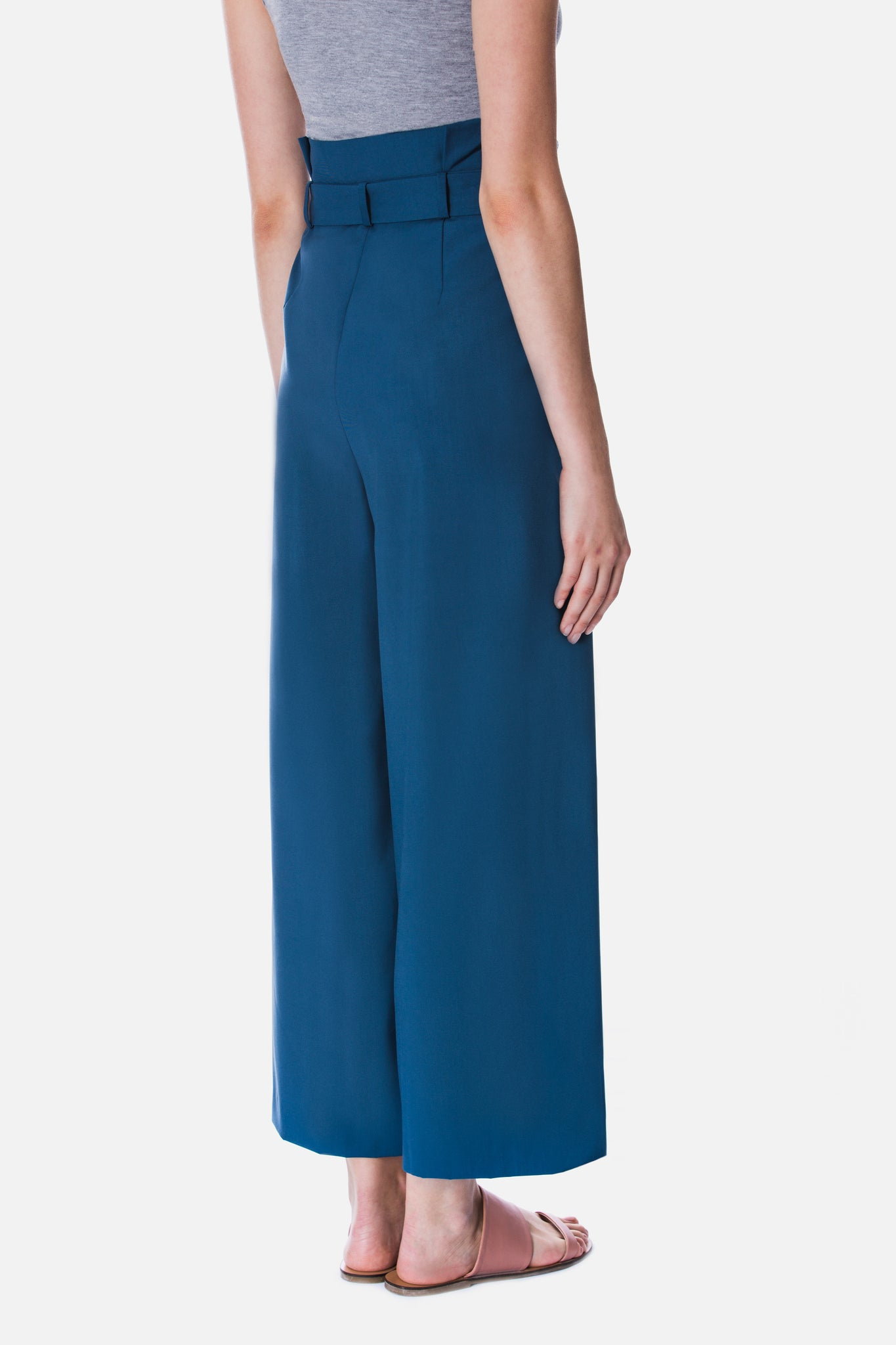 CULOTTES WITH PLEATED WAIST