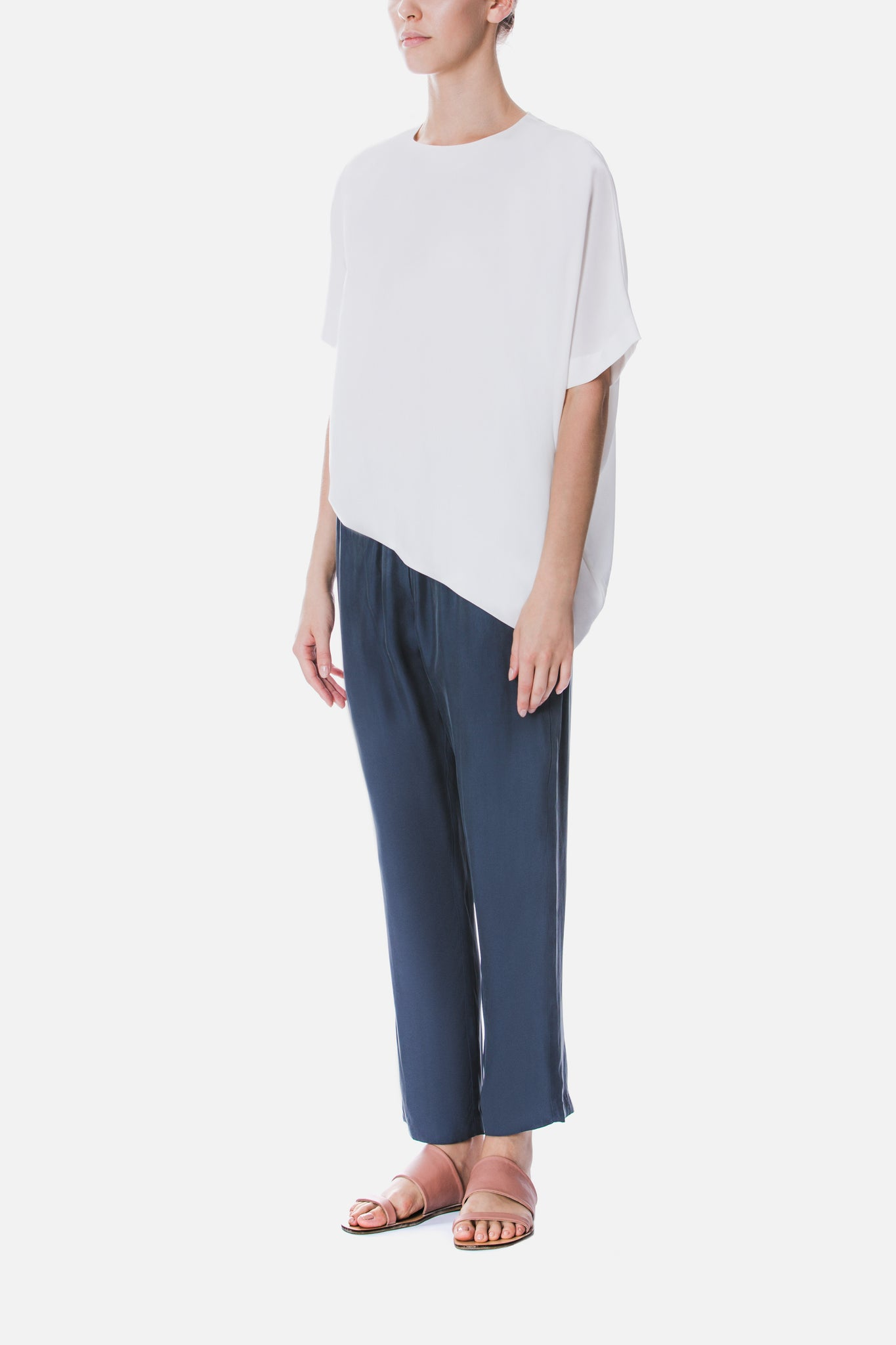 ASYMMETRICAL TENCEL TOP