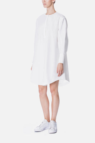 HALF PLACKET SHIRT DRESS