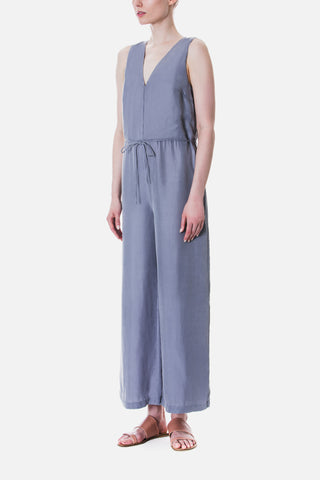 Straight Cut V-neck Jumpsuit