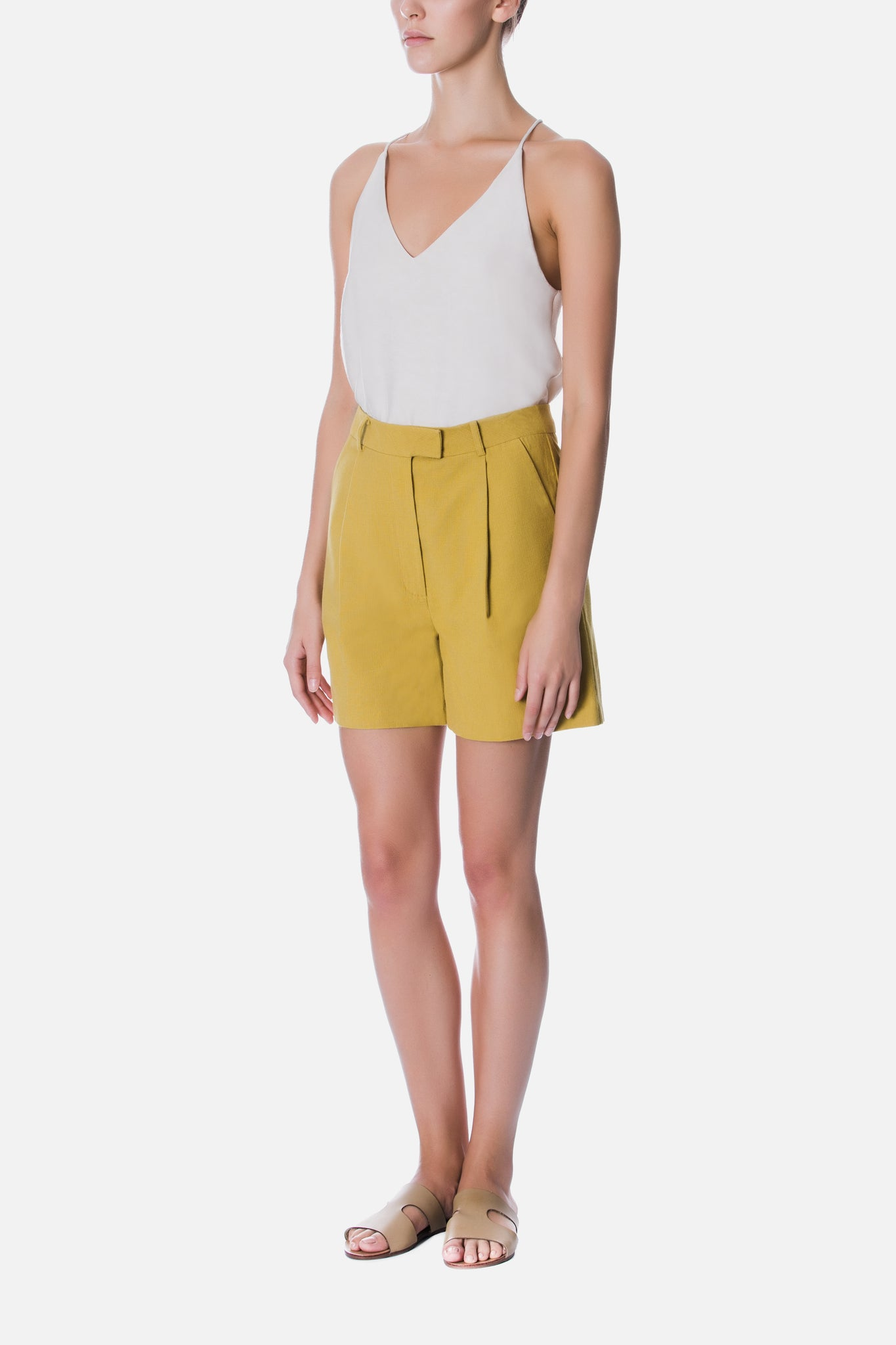TAILORED PLEATED SHORTS