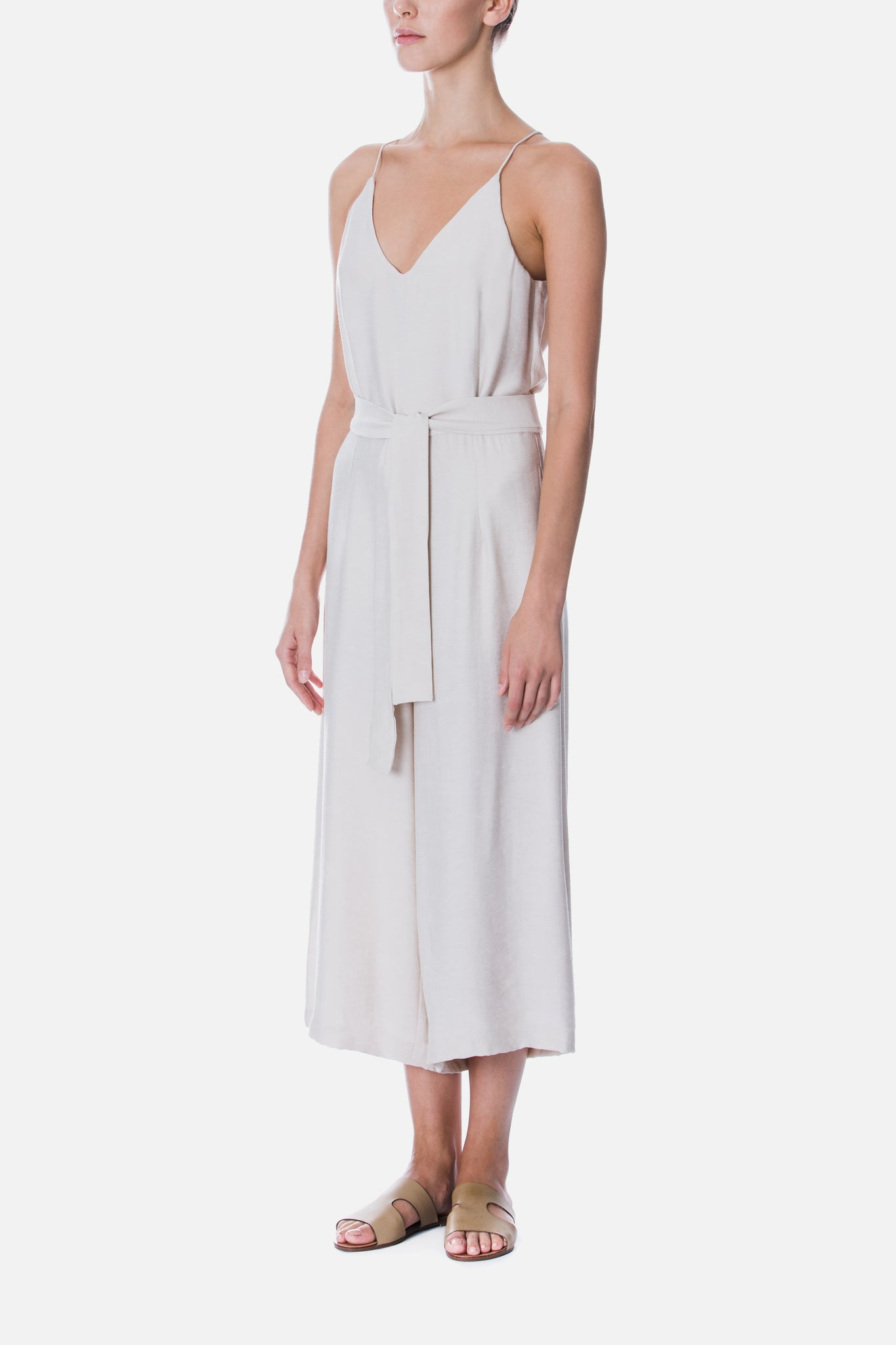 CAMISOLE BELTED JUMPSUIT