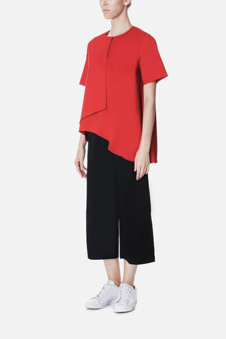 Asymmetric Short Sleeve Top