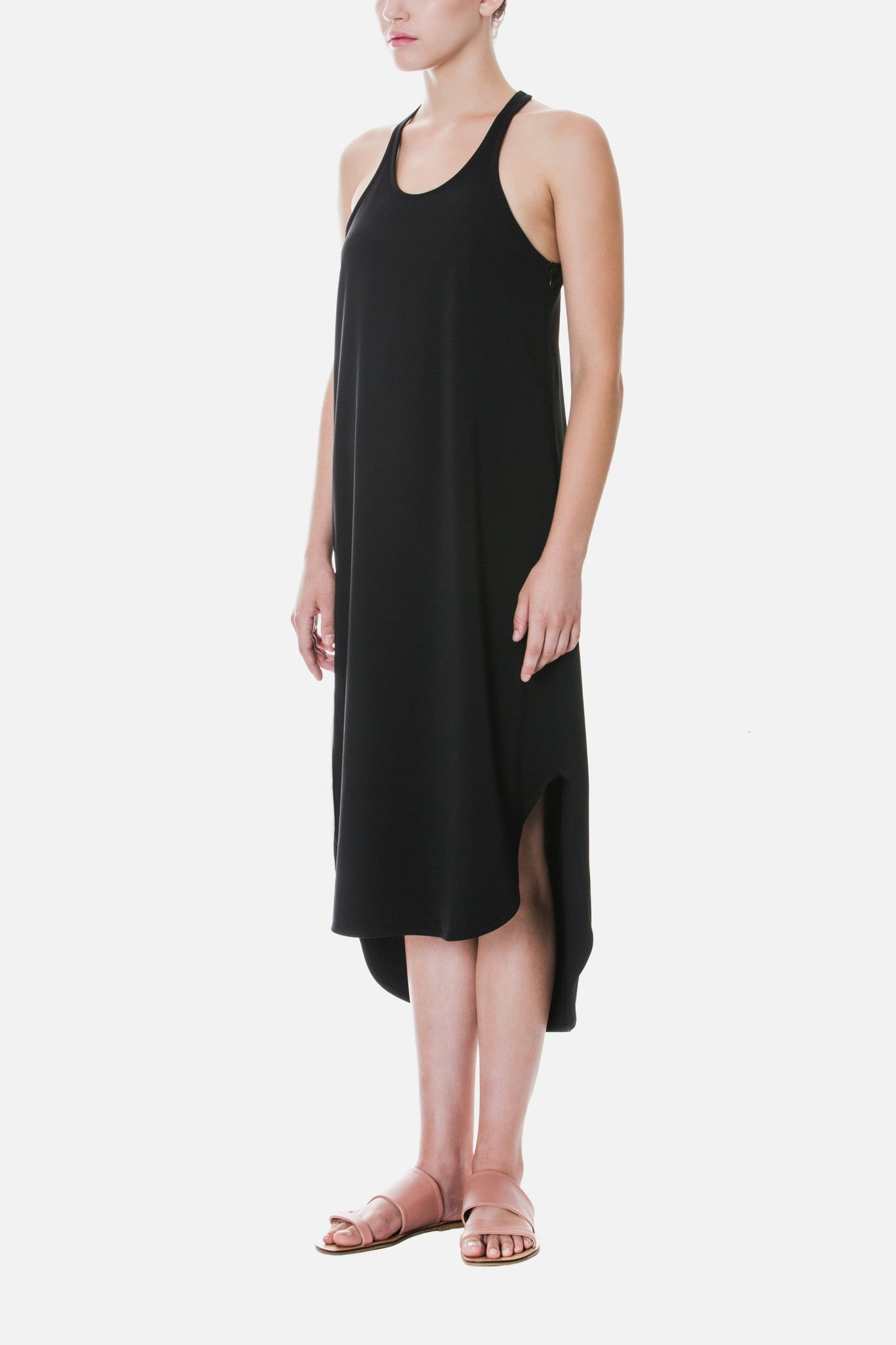 Crepe Dress with Back Detail