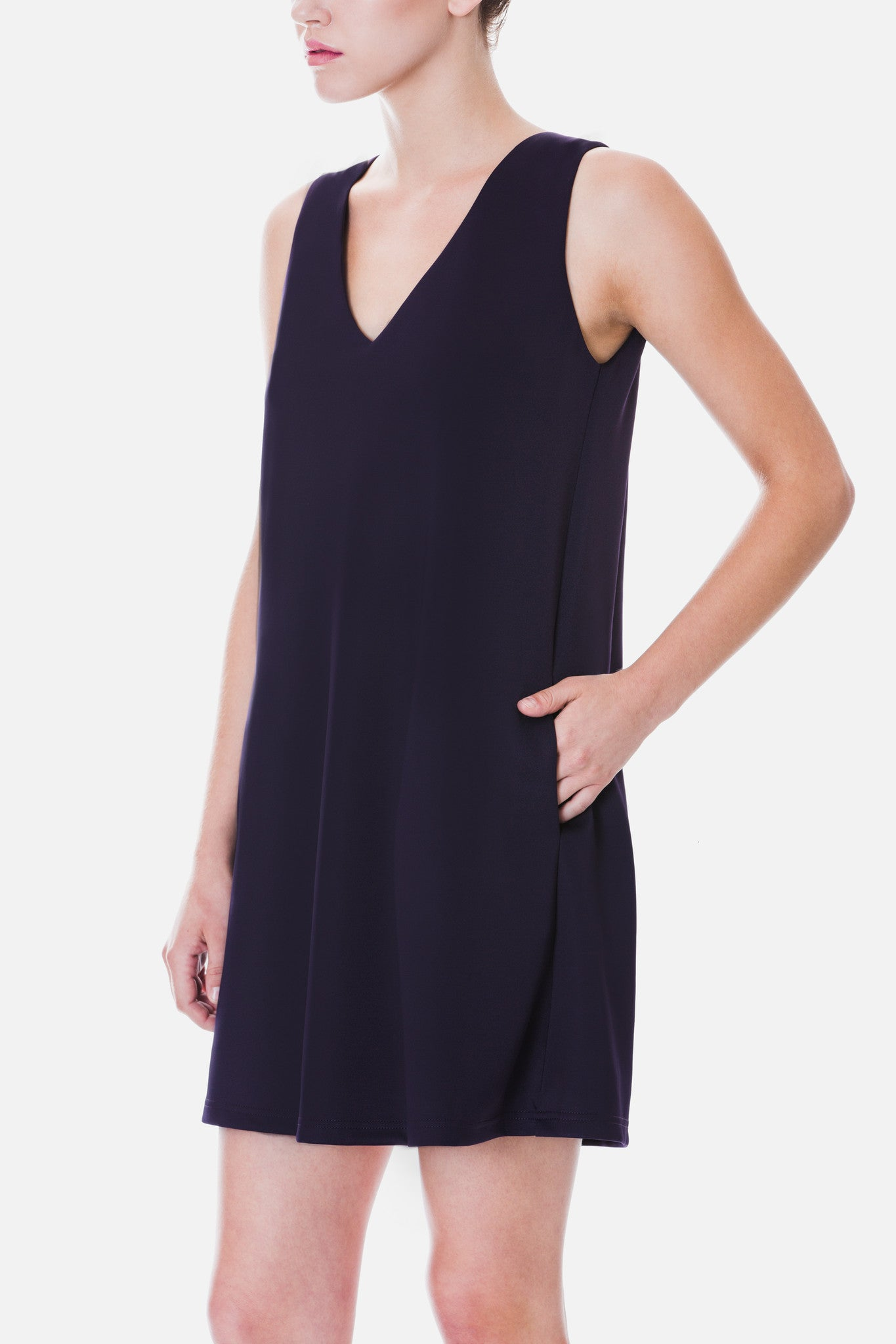 A-line Dress with Pleated Back