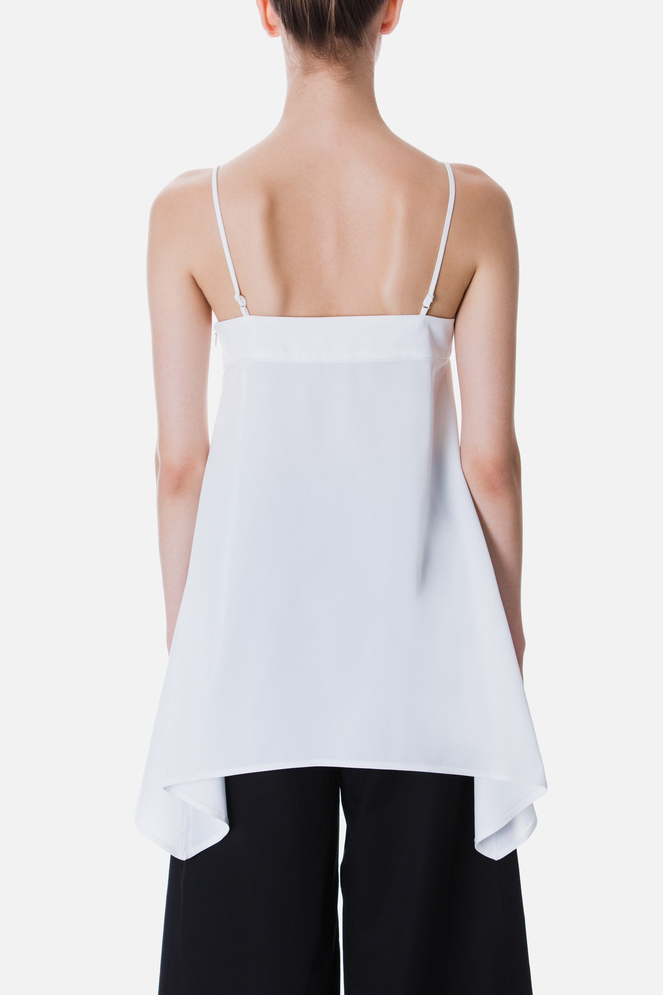 CAMISOLE TOP WITH SIDE DRAPE