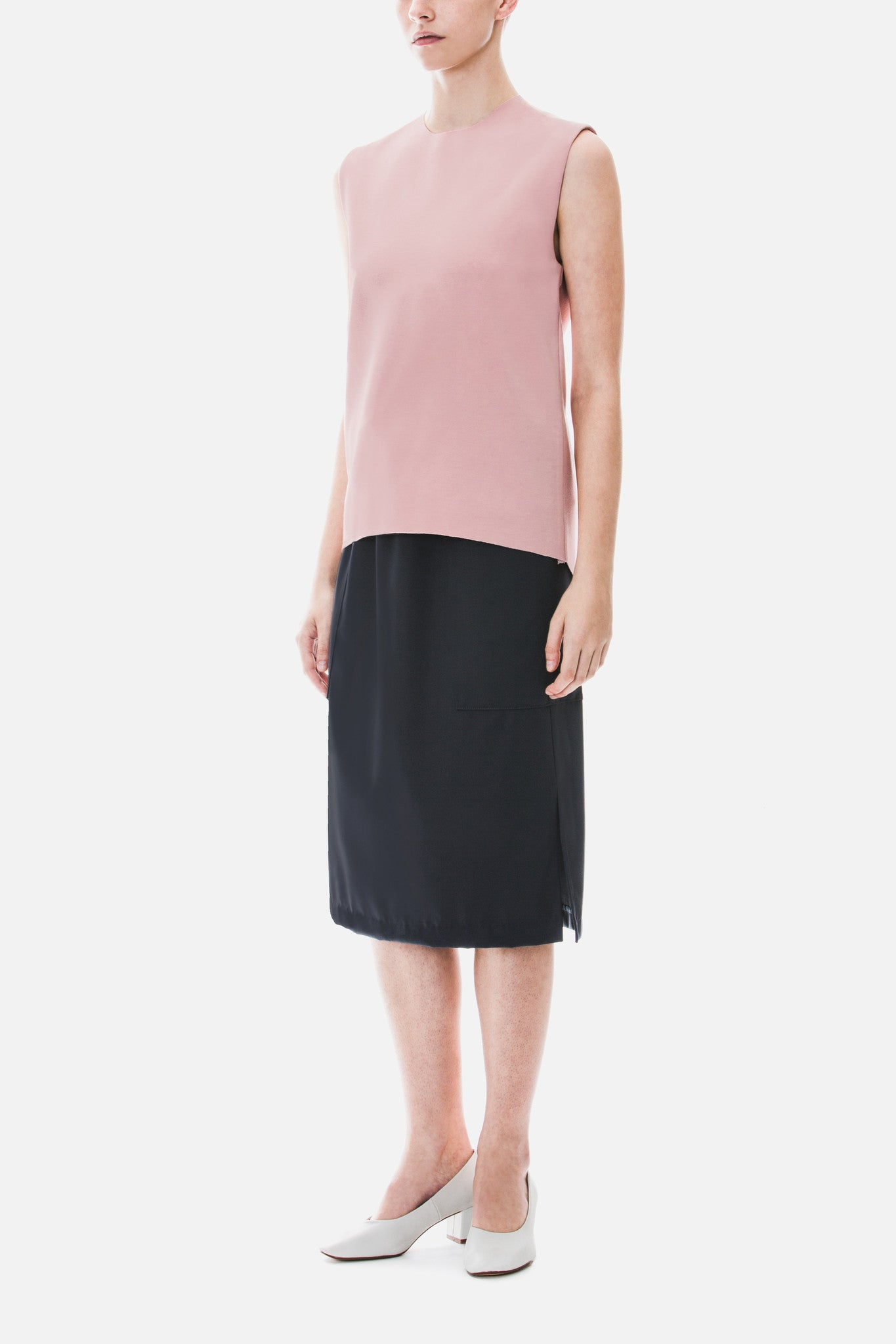 Skirt with Oversized Pockets
