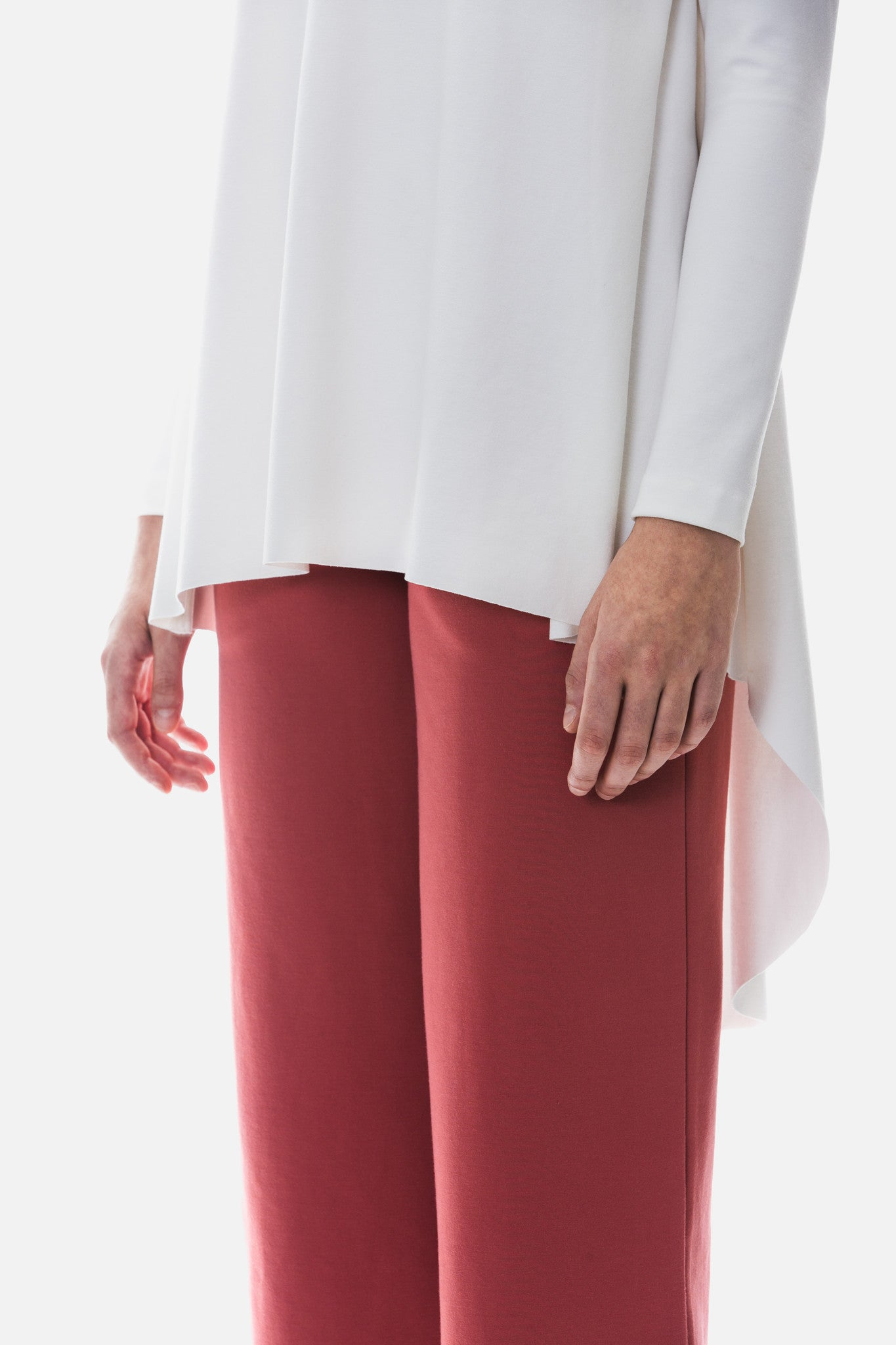 Long Sleeved Side Pleat Top