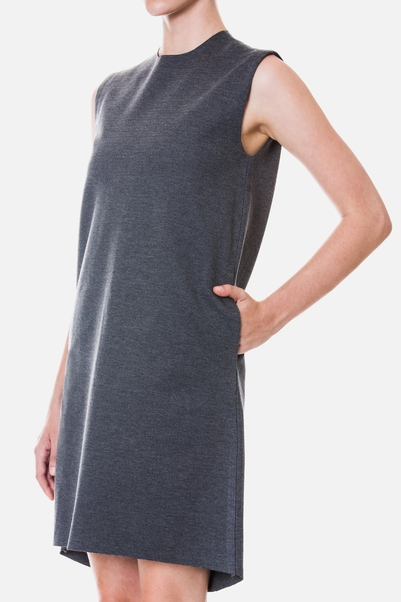 Knit Shell Shift Dress