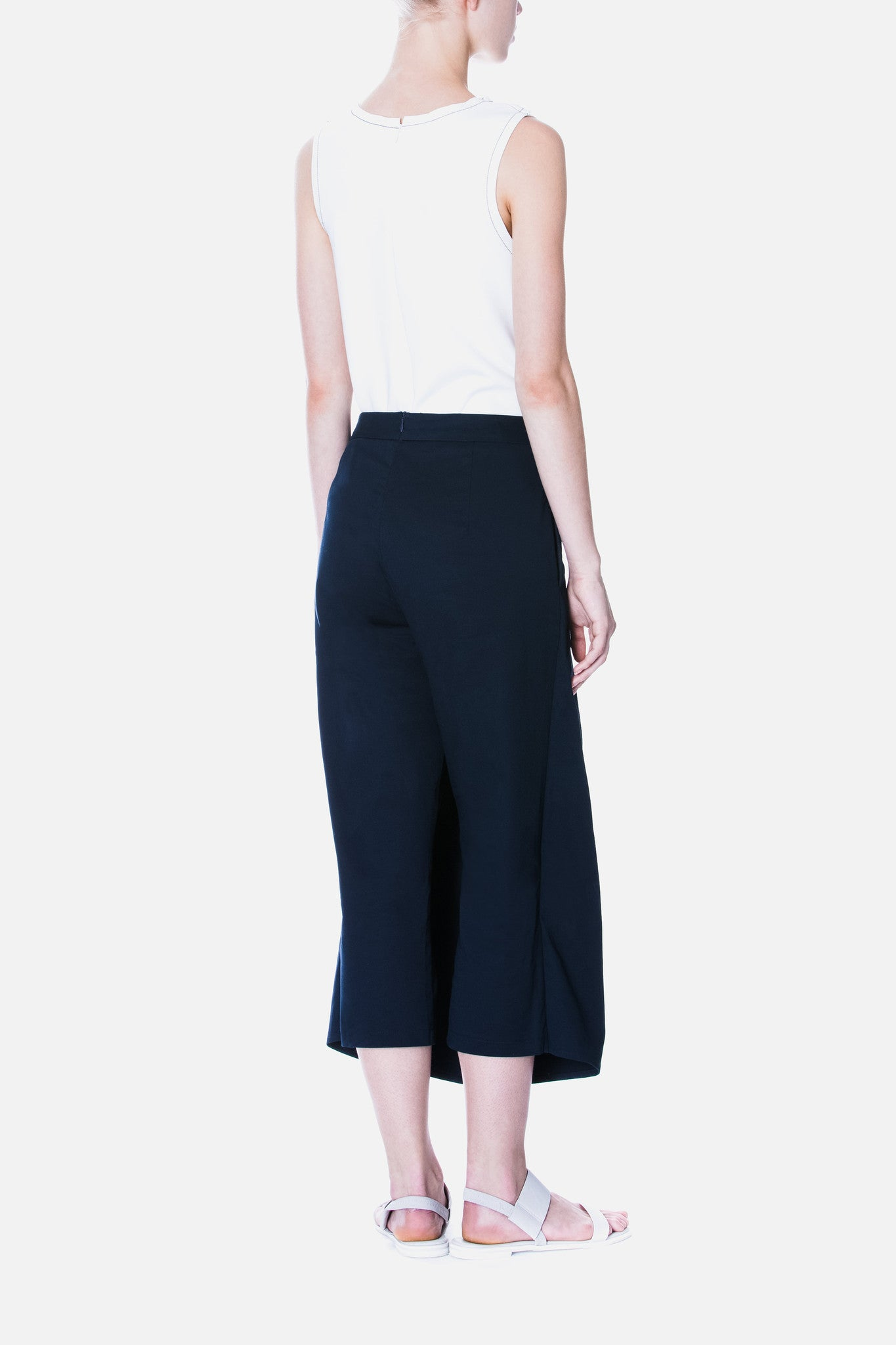 Straight Cut Tailored Trousers