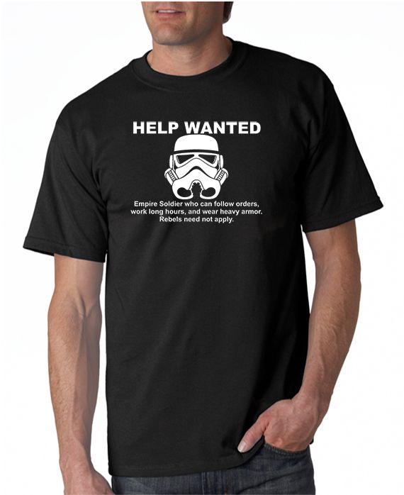 SALE | Empire Help Wanted Star Wars inspired T-shirt