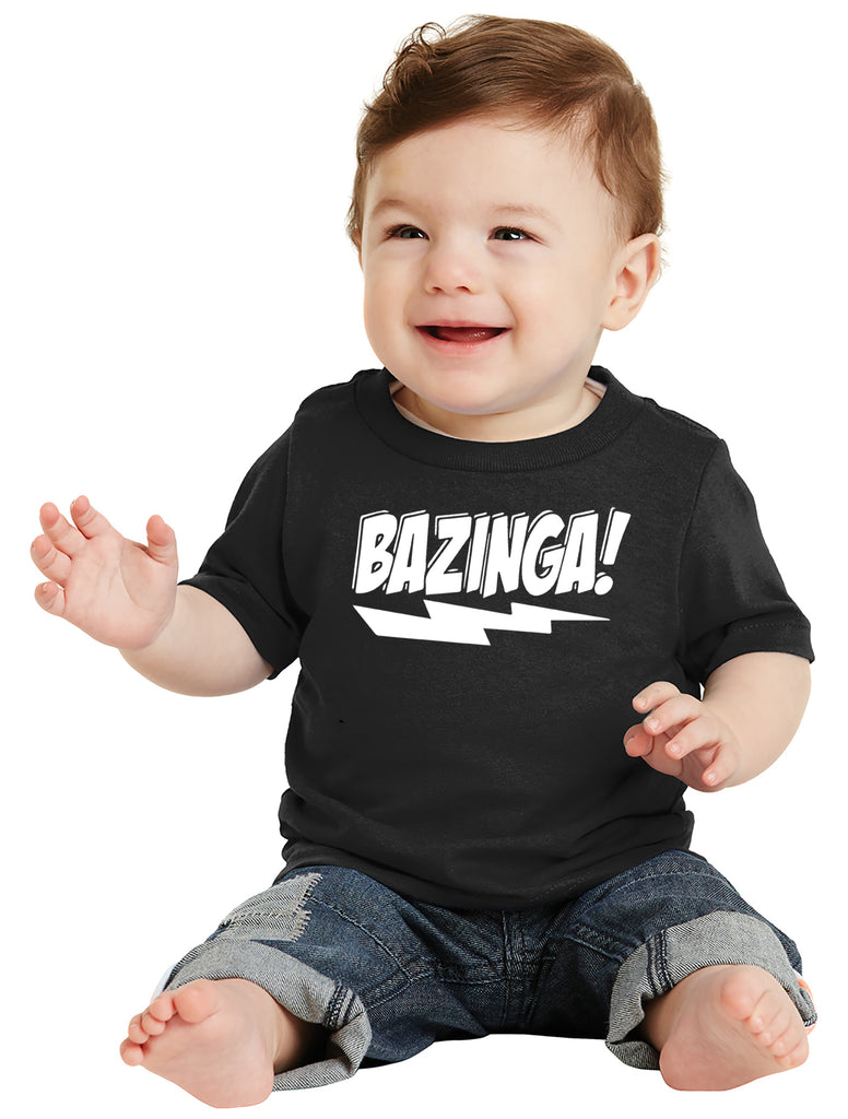 Bazinga! Infant T-Shirt inspired by Big Bang Theory