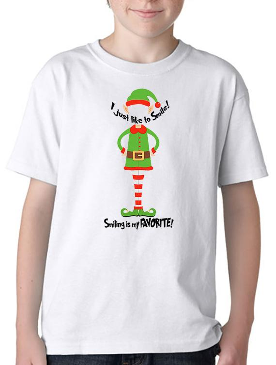 I Like to SMILE YOUTH T-Shirt or Hoodie inspired by an ELF