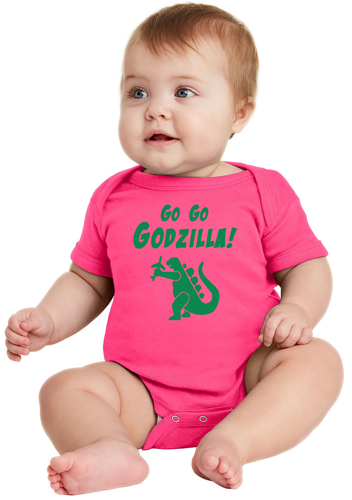 Go Go Godzilla Baby Bodysuit inspired by Blue Oyster Cult and the Monster Himself!