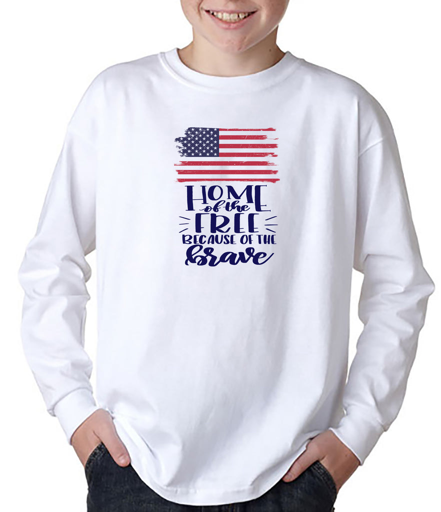 Home of the Free Because of the Brave YOUTH T-Shirt/Hoodie