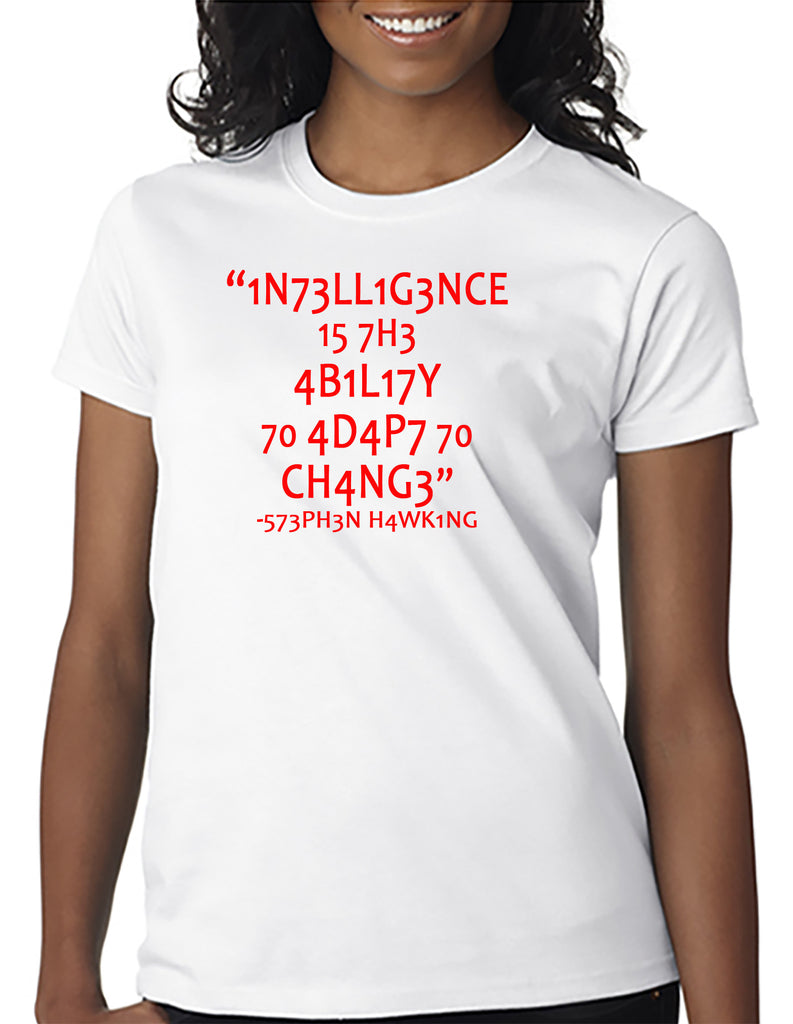 Intelligence Quote Puzzle Stephen Hawking T-Shirt