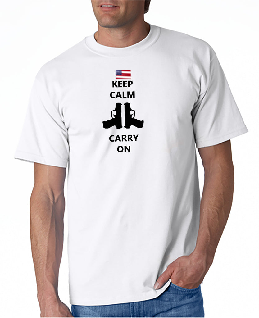 Keep Calm and Carry On Guns T-shirt